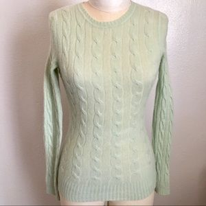 White Warren 100% cashmere light green sweater s